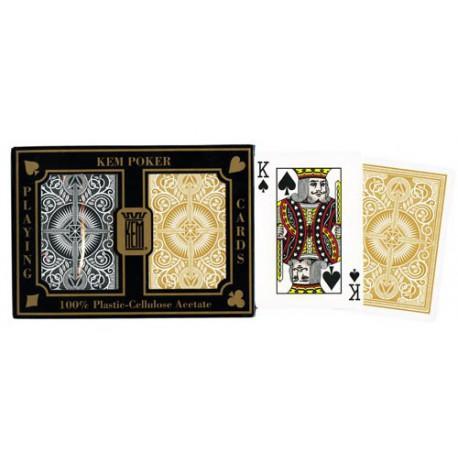 Coffret Kem Poker Arrow - Black & Gold Jumbo