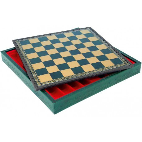 Coffret cuir echecs/backgammon 36x36