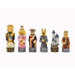 Pièces d'échecs Chiens et Chats