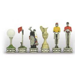 Pièces d'échecs Golf Metal