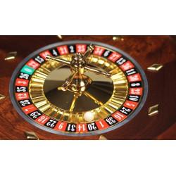 Roulette Casino Bois Teinté Acajou 36cm