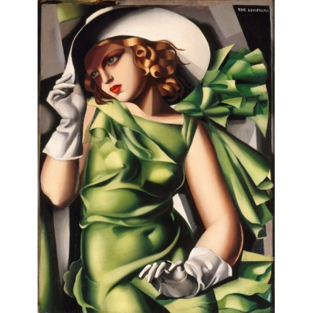 Puzzle 1000 pièces - Young Lady with Gloves