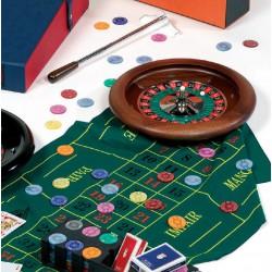 Set Casino complet - Roulette Acajou 35cm