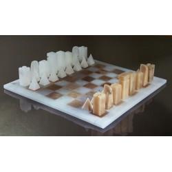 Ensemble d'échecs Pierres anciennes gris clair
