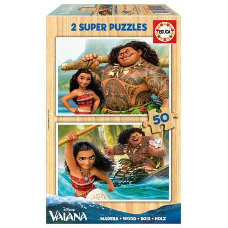 Deux Puzzles de 50 pièces - Vaiana madeira