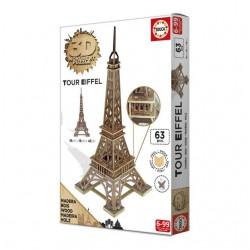 Puzzle 3D - Bois Tour Eiffel (63 pcs)