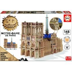Puzzle 3D Bois Cathédrale Notre-Dame (148 pcs)