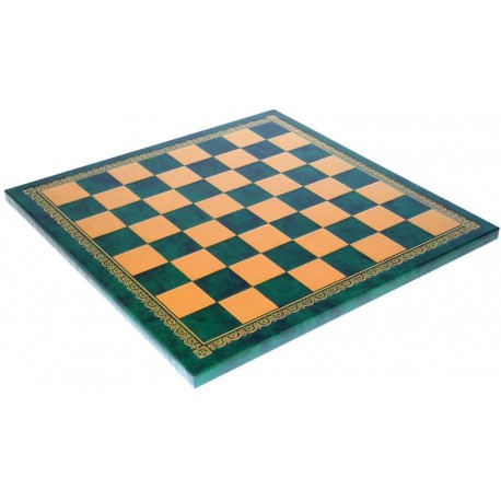 Echiquier Simili cuir 45x45 vert - Taille 4.5