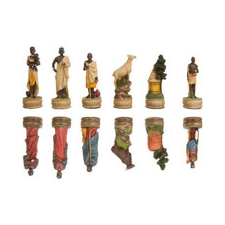 Coffret de jeux d'échecs Guerriers Massai