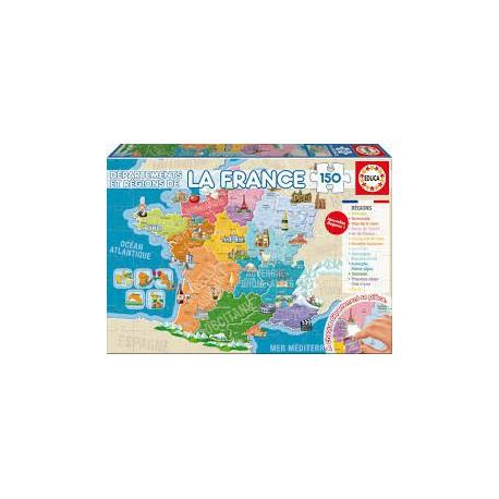 Puzzle 150 pièces - Départements et Régions de France