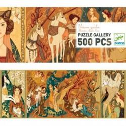 Puzzle 500 pièces - unicorn garden