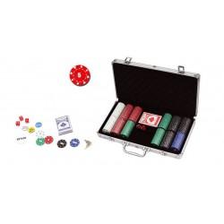 Mallette Poker 300 jetons Carré d'As 11.5g