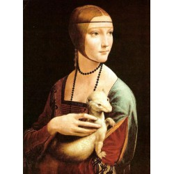 Puzzle 1000 pièces - Dame à l'hermine de Da Vinci