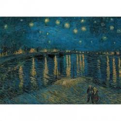 Puzzle 1000 pièces - Nuit étoilée sur le Rhône de Van Gogh