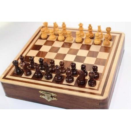 Jeu d'échecs en bois magnétique 20cm