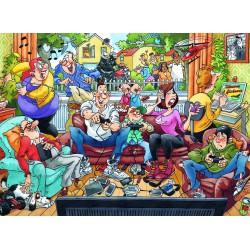 Puzzle 1000 pièces - Une vraie soirée d'autrefois - Wasgij