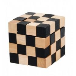 Casse-tête IQ-test Cube 4x4 Bois (noir)