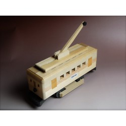 """Casse-tête ou puzzle japonais traditionnel en bois """"Trolley"""" Tirelire"""