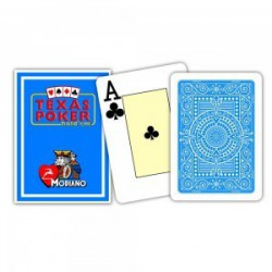 Cartes à jouer Poker Texas Plastic Modiano Azur