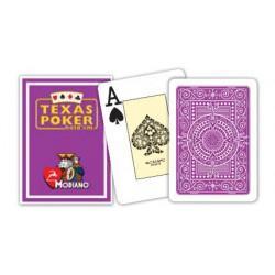Cartes à jouer Poker Texas Plastic Modiano Violet
