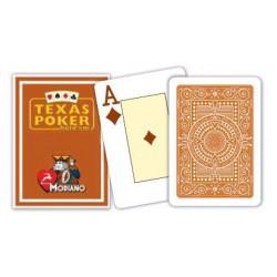 Cartes à jouer Poker Texas Plastic Modiano Marron