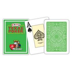 Cartes à jouer Poker Texas Plastic Modiano Thé vert