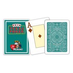 Cartes à jouer Poker Texas Plastic Modiano Vert