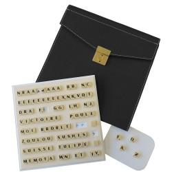 Scrabble duplicate de luxe magnétique noir