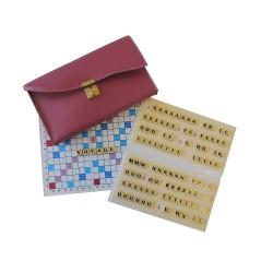 Scrabble duplicate magnétique pliable bordeaux