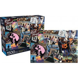 Puzzle 1500 pièces - Pink Floyd Collage