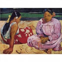 Puzzle 1000 pièces - Deux tahiennes sur la plage de Gauguin