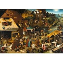 Puzzle 1000 pièces - Proverbes des Flamands, Bruegel