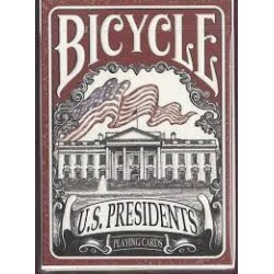 Cartes à jouer Bicycle US Presidents Rouge