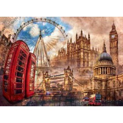 Puzzle 1500 pièces - Vintage London