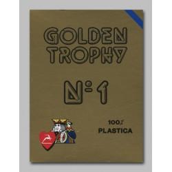 Cartes Golden Trophy Bleu 100% plastique