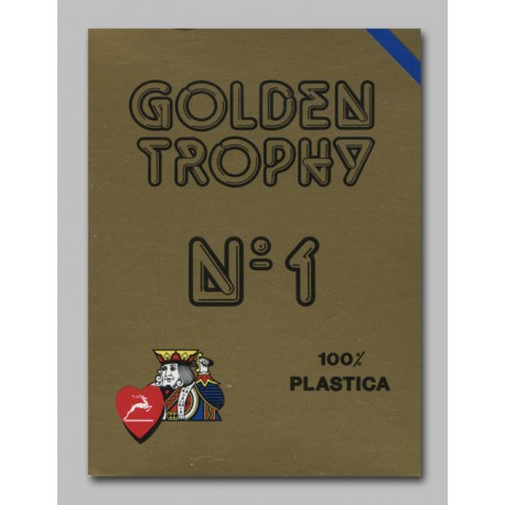 Cartes Golden Trophy Bleu 100% plastique