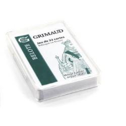Cartes à jouer Grimaud Origine Belote