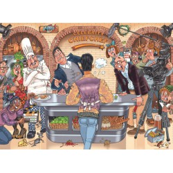 Puzzle 1000 pièces - Celebrity Chief Chef - Wasgij Mystery 26
