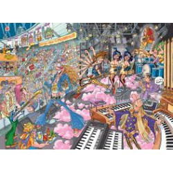 Puzzle 1000 pièces - Old Times Rockers - Wasgij Mystery 16