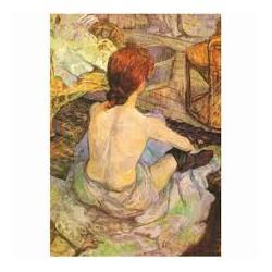 Puzzle 1000 pièces - Femme à la toilette de Toulouse Lautrec