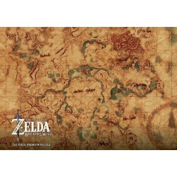 Puzzle 750 pièces - The Legend of Zelda: Hyrule World Map