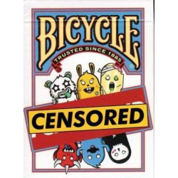 Cartes à jouer Bicycle Censored