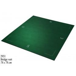 Tapis de bridge pro 77 x 77 cm (vert) en tube
