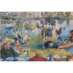 Puzzle 1000 pièces - Crayfishing de Larsson