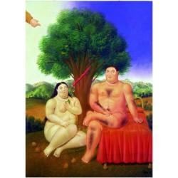 Puzzle 1000 pièces - Adam et Eve de Botero