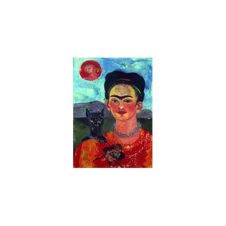 Puzzle 1000 pièces - L'autoportrait de Frida Kahlo