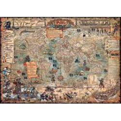 Puzzle 2000 pièces - Pirate World