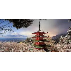 Puzzle 3000 pièces - Mont Fuji et Pagode Chureito, Japon (Panorama)