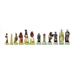 Pièces d'échecs Egyptiens-Romains - Taille 3.5