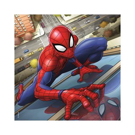 Puzzle 3 x 49 pièces - Spiderman en action